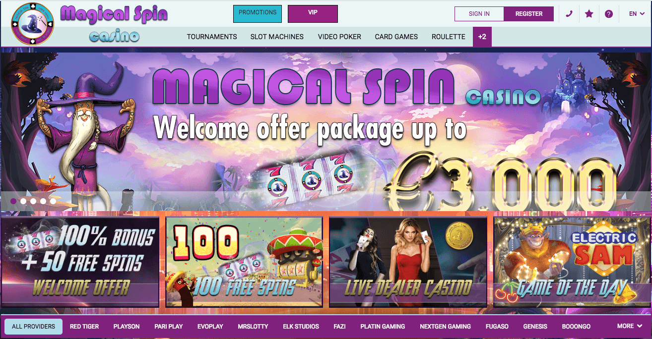 casino magical spin